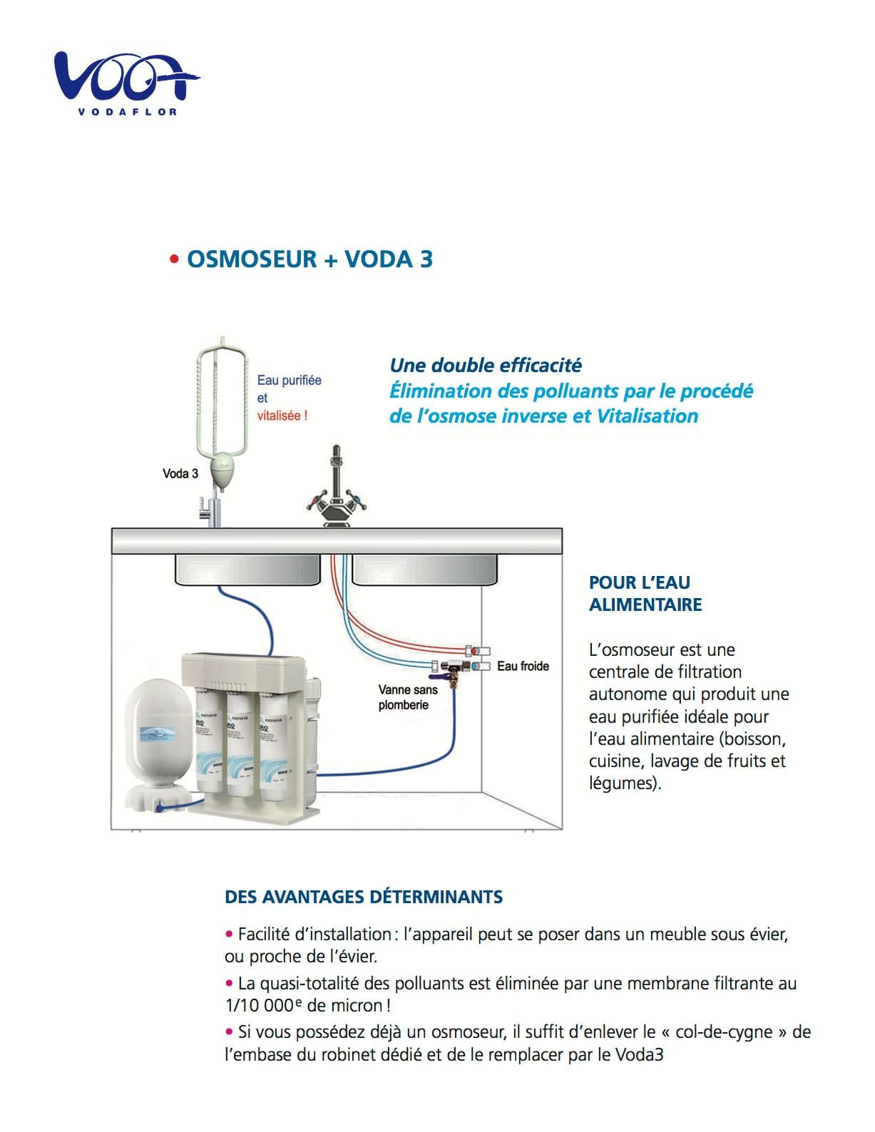 Montage du vortexeur Voda avec un osmoseur